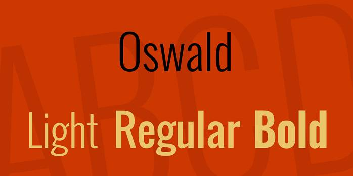 Oswald font