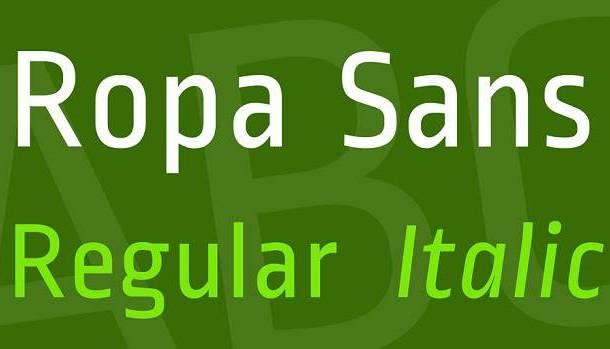 Ropa Sans Font Family