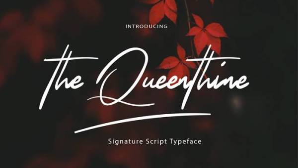 The Queenthine Font