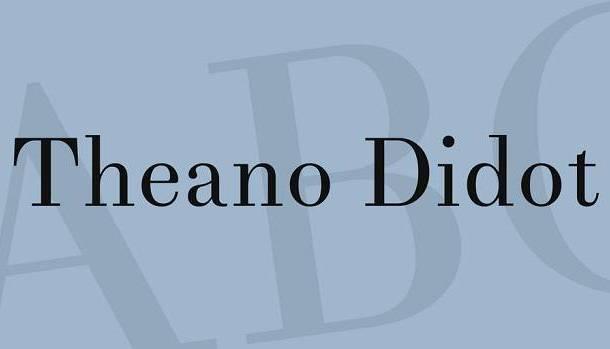 Theano Didot Font