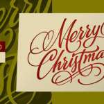 Waving at Christmas Font