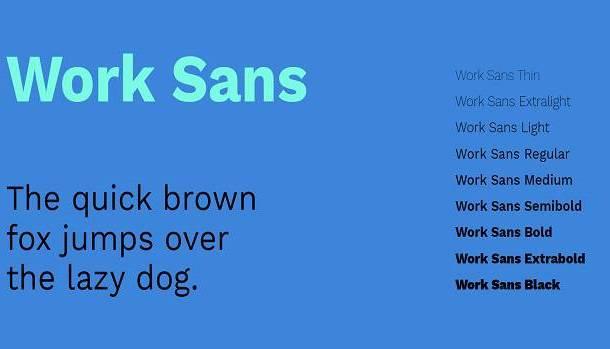 Work Sans Font Family