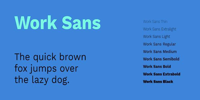 Work Sans font
