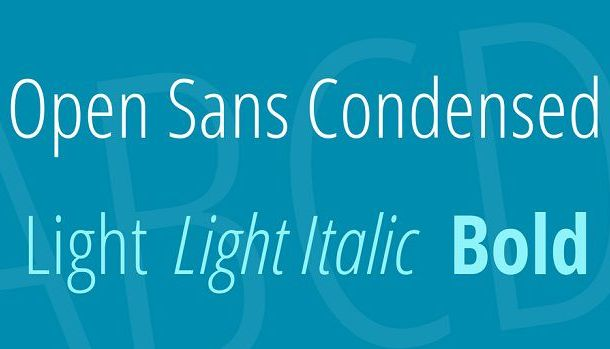 Open Sans Condensed Font Family