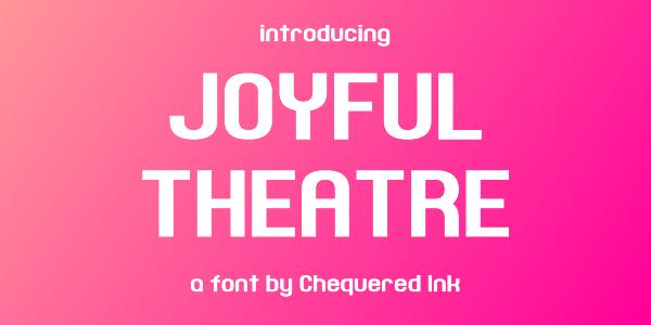 Joyful Theatre Font