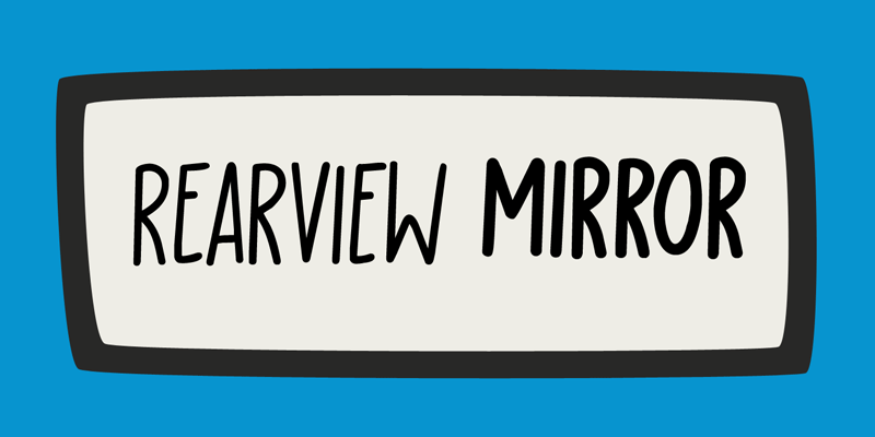 Rearview Mirror Font
