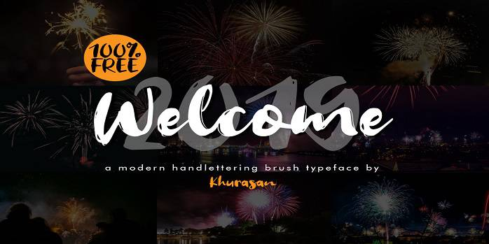 Welcome 2019 Font - Dafont Free