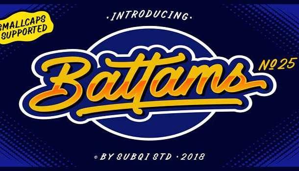 Battams Font