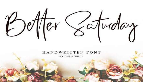 Better Saturday Font