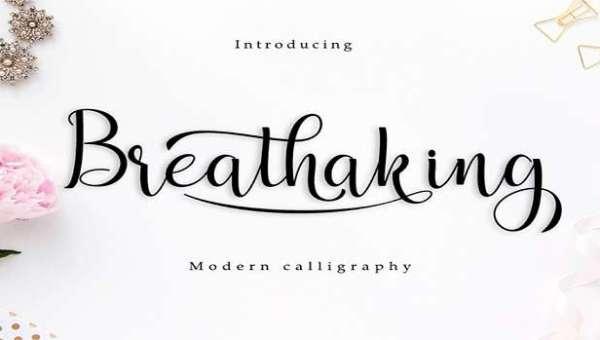 Breathaking Font