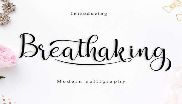 Breathaking Font