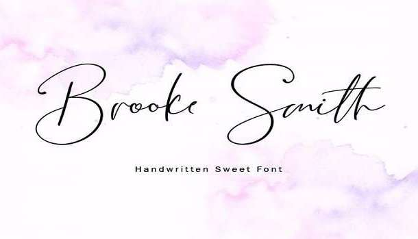 Brooke Smith Script Font