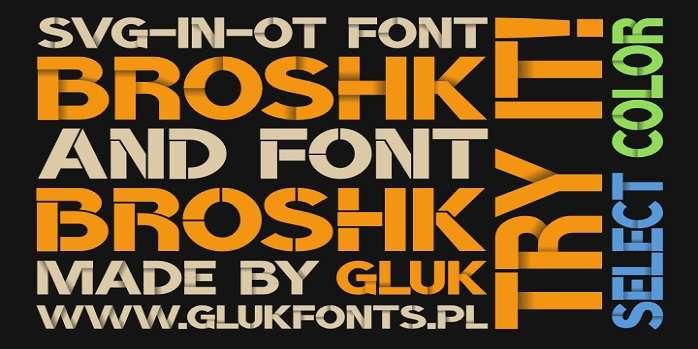BroshK Font - Dafont Free