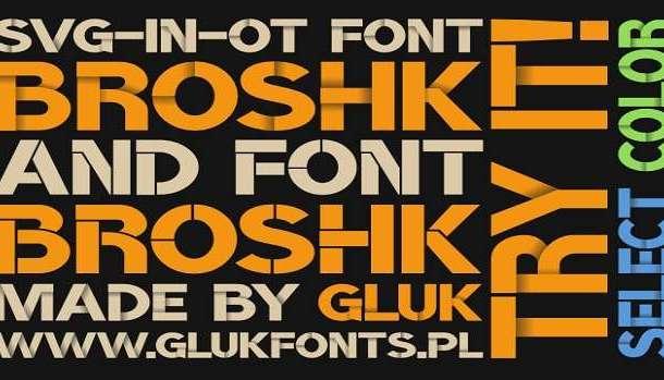 BroshK Font