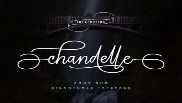 Chandelle Signatures Script Font