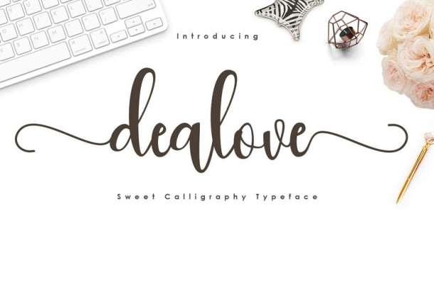 Dealove Script Font