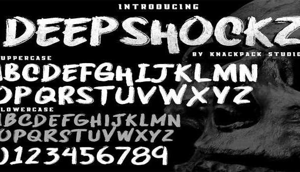 Deepshockz Font