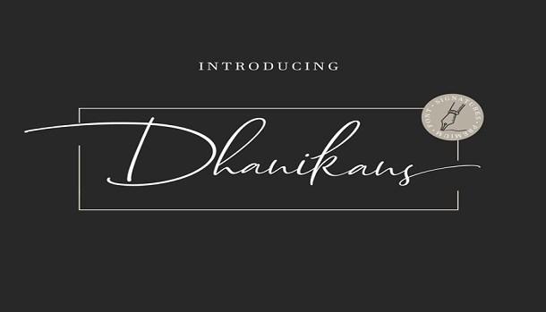 Dhanikans Signature 2 Font