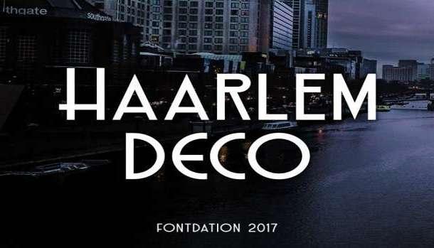 Haarlem Deco Font