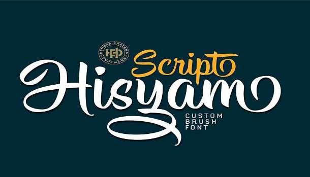 Hisyam Script Font