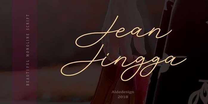 Jean Jingga Font