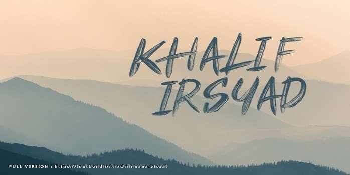 Khalif Irsyad font