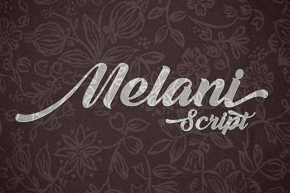 Melani Script Font