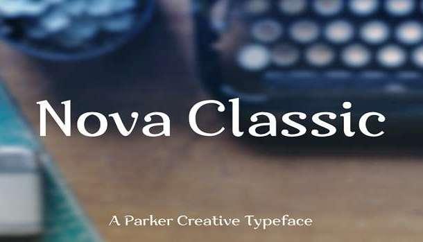Nova Classic Font