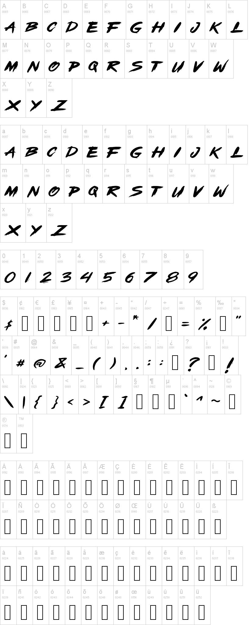 Open Brush Font-1