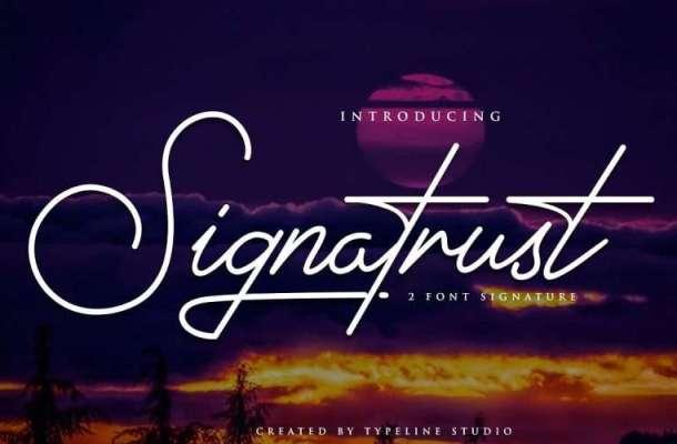 Signatrust Font