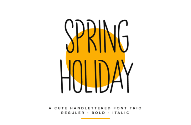 Spring Holiday Font