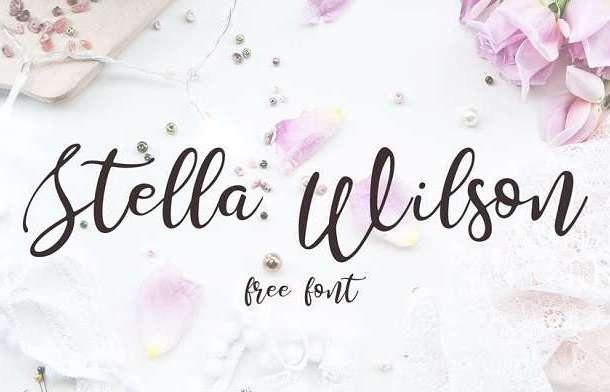 Stella Wilson Font