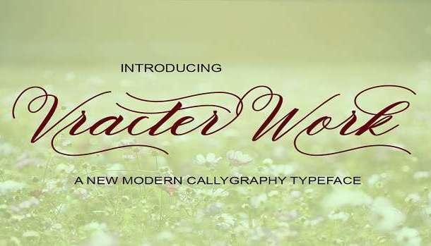 Vracter Work Font
