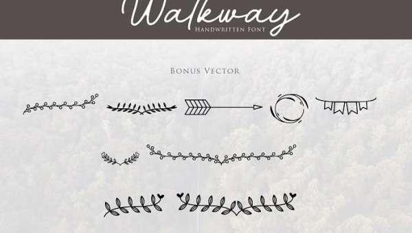 Walkway Bonus Font