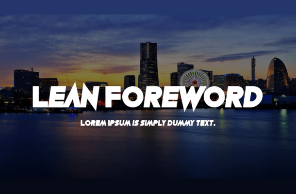 Lean Foreword Font