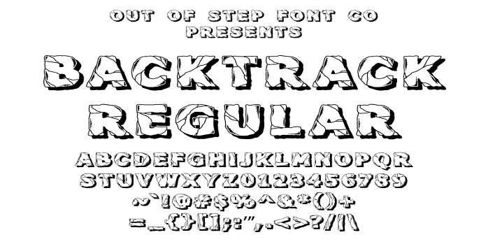 Backtrack Font