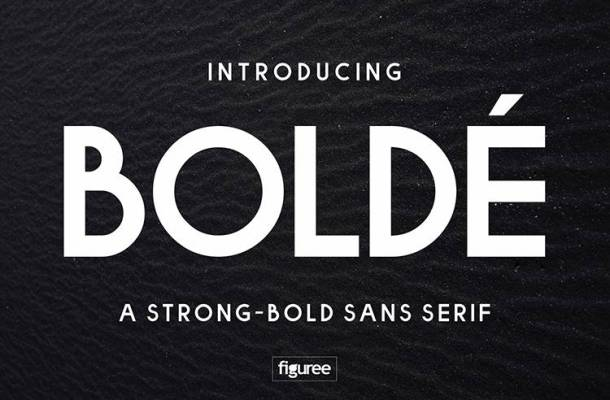 Bolde Sans Typeface