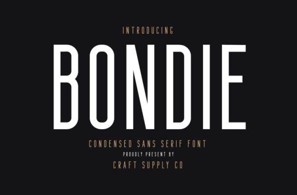 Bondie Sans Serif Font