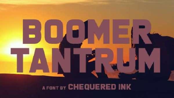Boomer Tantrum Font