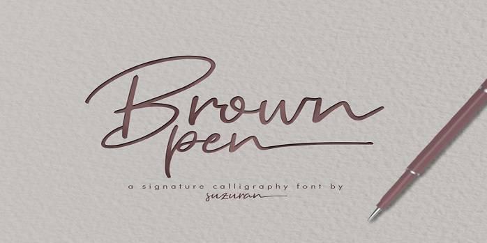 Brown Pen Font - Dafont Free
