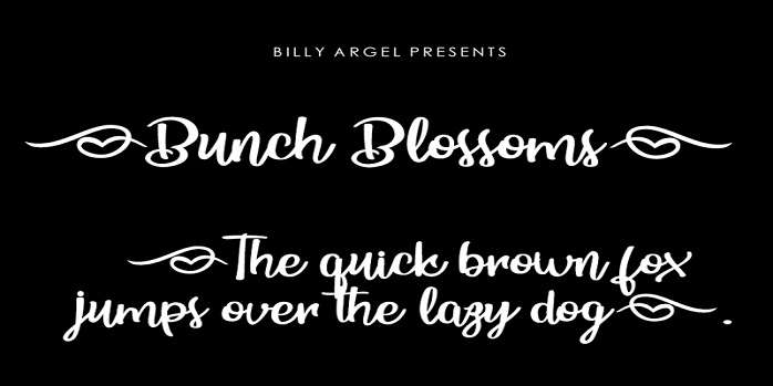 Bunch Blossoms Font - Dafont Free