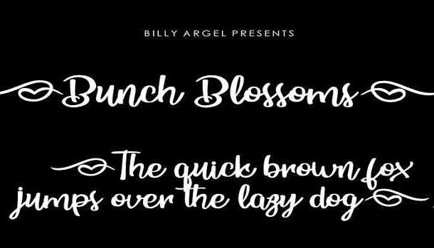 Bunch Blossoms Font