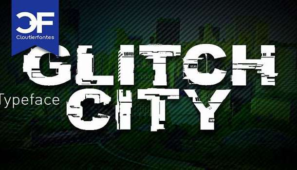 CF Glitch City Font