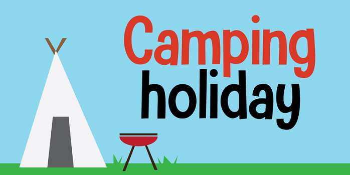 Camping Holiday Font
