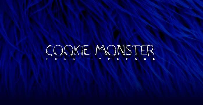 Cookie Monster font