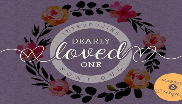 Dearly Loved One Font
