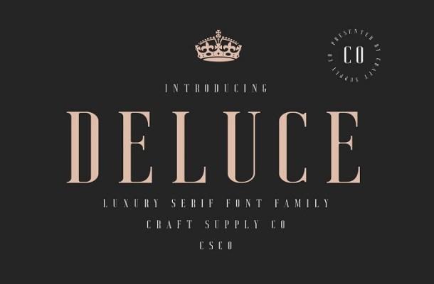 Deluce Serif Font