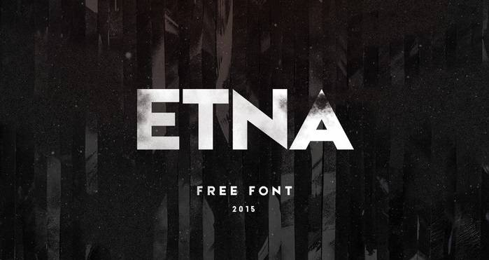 Etna Typeface - Dafont Free
