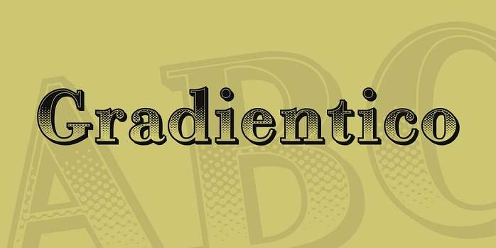 Gradientico font