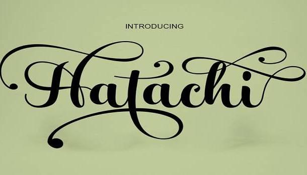 Hatachi Font